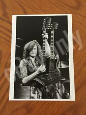 Jimmy Page Led Zeppelin 1977 Double Neck Gibson Guitar Postcard New