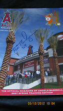 FRANCISCO RODRIGUEZ SIGNED ANGELS SPRING TRAINING  2007 TEMPE, AZ.  PROGRAM
