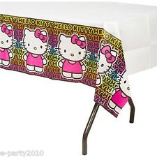 HELLO KITTY Neon Tween PAPER TABLECOVER ~ Birthday Party Supplies Decorations