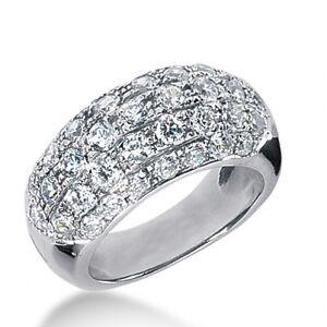 2.65 Carat F/VS2 Carat Ladies Round Cut Diamond Anniversary Band 14k White Gold