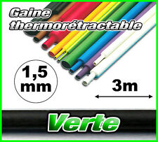 GV1.5-3# gaine thermorétractable verte 1,5mm 3m ratio 2/1  gaine thermo vert