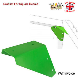 GREEN BRACKET FOR SQUARE BEAMS Swing Climbing Frame Playhouse Wooden Beam