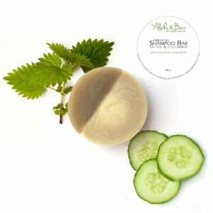Vegan Shampoo Bar Natural Nettle & Cucumber with Olive Oil and Cocoa Butter