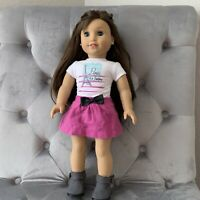 """AMERICAN GIRL 18"""" Grace Thomas GOTY 2015 Doll Pierced Ears Meet Outfit Boots"""
