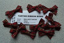 WALLACE TARTAN BOWS (10mm RIBBON)