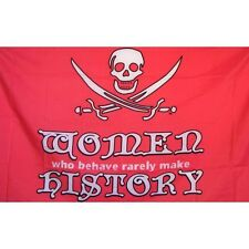 Pirate Woman Flag Banner Sign 3' x 5' Foot Polyester Grommets