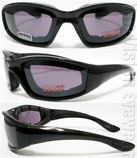 Smoke Lens Thick EVA Foam Padded Motorcycle Sun Glasses SH 77SM