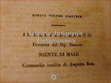 TEATRO: Florilegio Drammatico XIV Roma 1831 Zanoia RAVVEDIMENTO Niente di male
