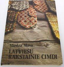LATVIAN MITTENS ORNAMENTAL PATTERNS 1990 BOOK, ETNOGRAPHY FOLK FASHION DESIGN