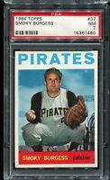 1964 Topps Baseball #37 SMOKY BURGESS Pittsburgh Pirates PSA 7 NM