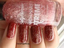 NEW! Sally Hansen Hard As Nails Nail Polish in BOOGIE WOOGIE ~ PINK GLITTER