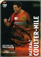 ✺Signed✺ 2014 2015 PERTH SCORCHERS Cricket Card NATHAN COULTER-NILE Big Bash
