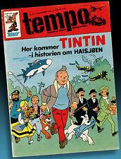 ALTES TIM UND STRUPPI TINTIN > TIM UND DER HAIFISCHSEE NORWEGEN 1973 HERGÉ RAR