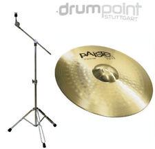"""Paiste 101 18"""" Crash / Ride & Galgenbeckenständer Cymbal Schlagzeug *TOPANGEBOT*"""