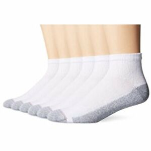 "Hanes® Men's 10-Pair Ankle Socks ""FreshIQ® & Ultimate® & ComfortBlend® """