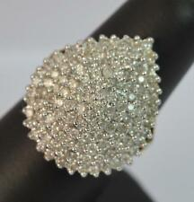 Cluster Natural Yellow Gold SI2 Fine Diamond Rings
