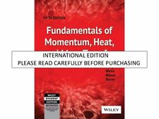 Fundamentals of Momentum, Heat and Mass Transfer, 5th ed. by James Welty, Charle