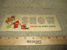 Fisher Price Play School Desk Letter Stencil Card 176 replacement part toy SNOW