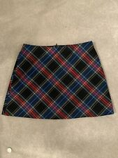 Zara Checked Mini Skirt - M