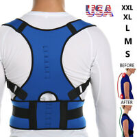 Posture Corrector Women Men Back Support Shoulder Lumbar Magnetic Brace Therapy