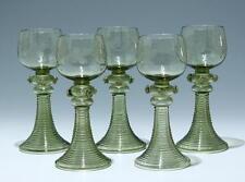 Satz von 5 Römern mit Weinlaubgravur um 1890      #91595