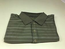 NIKE GOLF Dri-Fit Dry Fit Men's Short Sleeve Shirt Sz M Olive Green Stripped