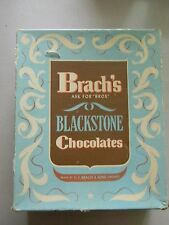 Vintage Brach's Blackstone Chocolates Candy Cardboard Box- Empty-