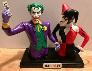 DC COMICS The Joker and Harley Quinn Bank SET 2014 MAD LOVE COMIC CON EXCLUSIVE