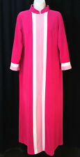 Vintage Vanity Fair Velour Zip Robe House Coat Pink 10