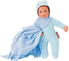 Jacinta Kruse Baby muñeca muñeca de trapo puppa Oliver en azul 26351 24 cm
