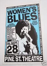Women's Blues Concert Handbill Hart Mayfield Wilcoxson Davis Hess Montgomery