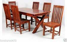 Solid Wood Antique Style 7 Pieces Table & Chair Sets