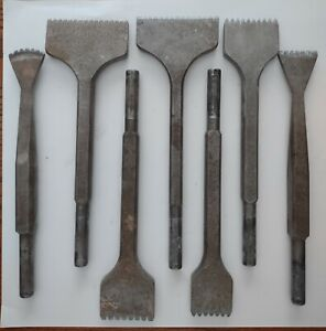 trow & holden pneumatic toothed stone carving chisels