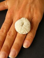 Wunderschöner Ring aus Koralle SONNE Silber 925, UNIKAT NEU