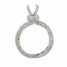 18k White Gold Diamond Engagement Ring Setting Semi Mount  0.50ct TDW Size 6