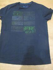 Tom Tailor   T-Shirt Shirt  m. Druck, dunkelblau,    Gr.  L, wie NEU