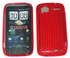 TPU Gel Case Protector Cover For HTC Sensation 4G XE G14 Z710e G18 Z715e RED