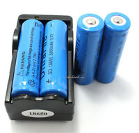 4PCS 3.7V 3800mAh 18650 Rechargeable Battery Li-Ion+Charger US stock Shippment