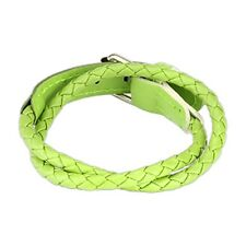 Multi Weaved Double Wrap Adjustable Bracelet w/ Buckle End Design Choose Color