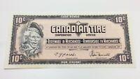 1974 Canadian Tire 10 Ten Cents CTC-S4-C-EM Uncirculated Money Banknote D144