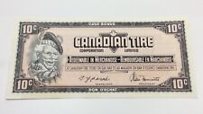 1974 Canadian Tire 10 Ten Cents CTC-S4-C-EM Uncirculated Money Banknote D144