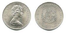"""GREAT BRITAN 1972 CROWN, """"Q E II & PHILIP ANNI"""" 1024 LOW PRICE & $1.00 USA SHIP"""