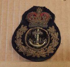 1950's British Royal Navy Cap Badge Bullion Badge 7 x 6cm