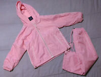 Girls Windbreaker/Track Pants Outfit/Set-Lined Coat/Jacket-Pink/White-Like 2T/3T