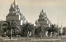 1939 Golden Gate Exposition RPPC Postcard; Elephant Towers, San Francisco CA