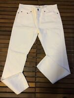 Saint Laurent D10 White Jeans Size 33 New