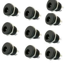 LOT 10pcs 2.1mm x 5.5mm DC Power Female Jack socket panel chasis mount
