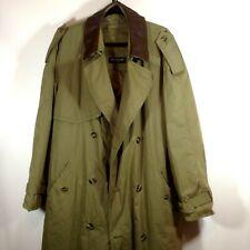 Melaka Classic Men's Coat Trench Olive Green Size 52