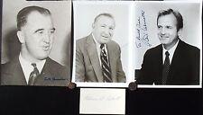 Commissioners Of Baseball Autographs [4] Chandler, Feeney, Ueberroth, Eckert