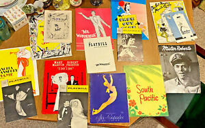 Lot of 15 Vintage Broadway/Ice Capades Programs/Playbills 50's 60's